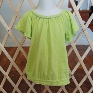 🚨 girls 5t lime green blouse🚨